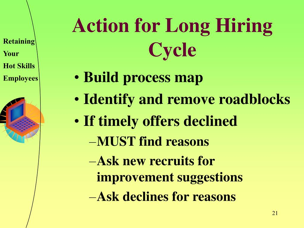 Action for Long Hiring Cycle