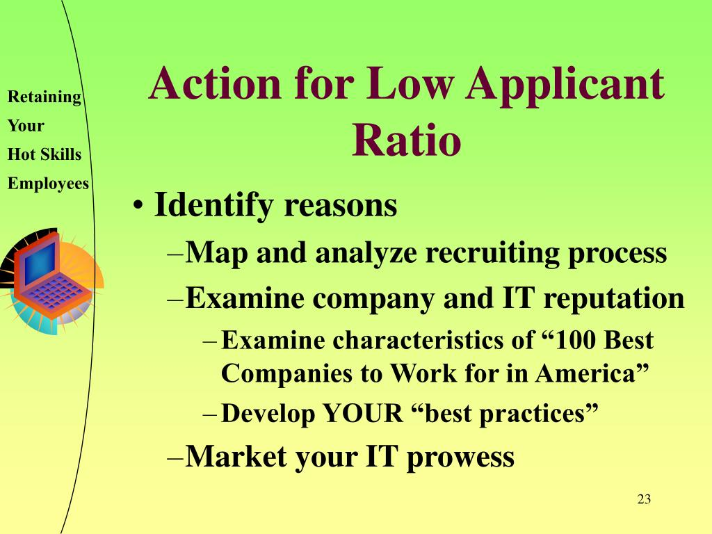 Action for Low Applicant Ratio