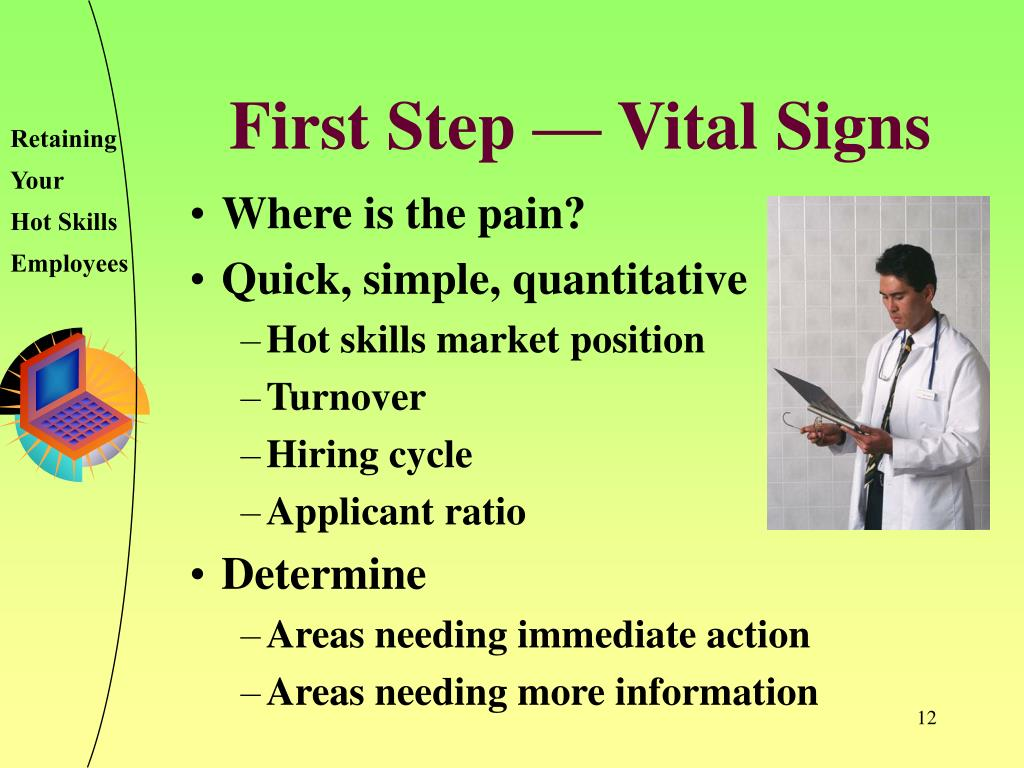 First Step — Vital Signs