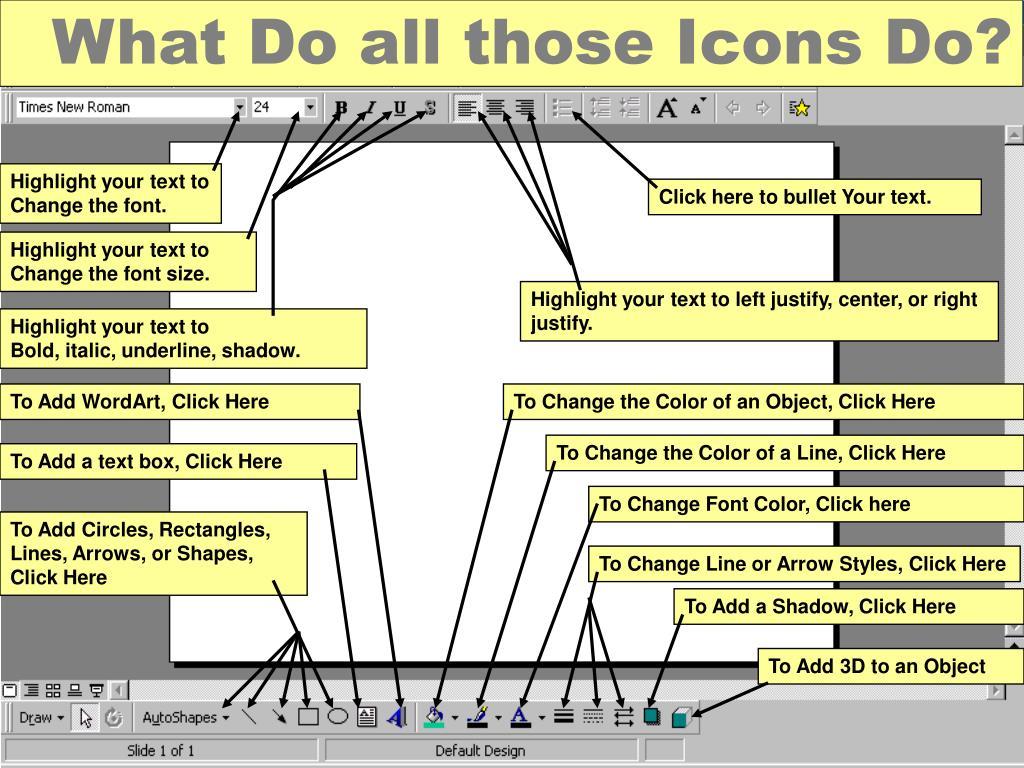 What Do all those Icons Do?