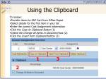 using the clipboard26