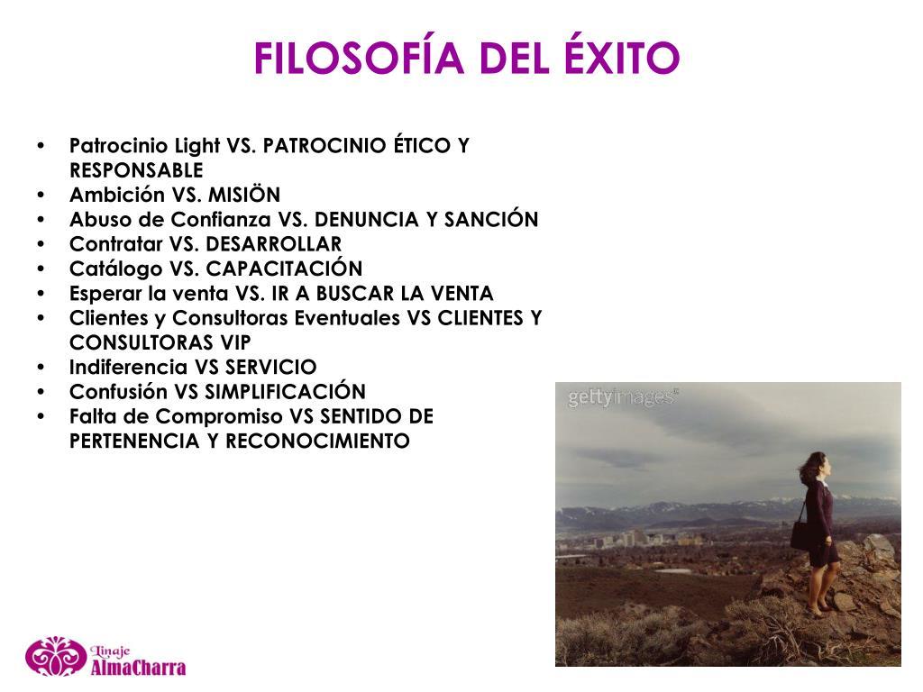 FILOSOFÍA DEL ÉXITO