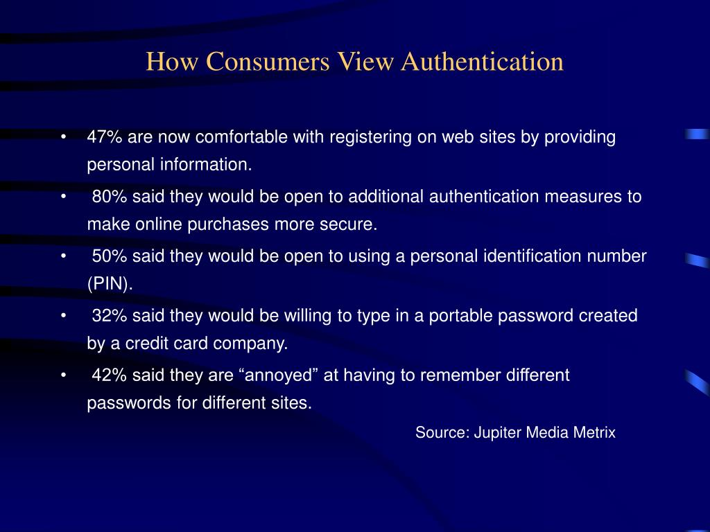 How Consumers View Authentication