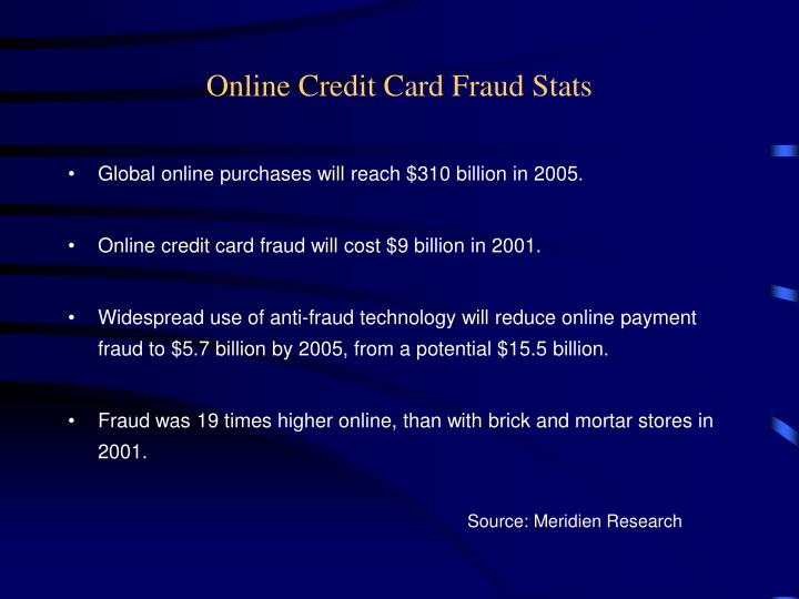Online credit card fraud stats