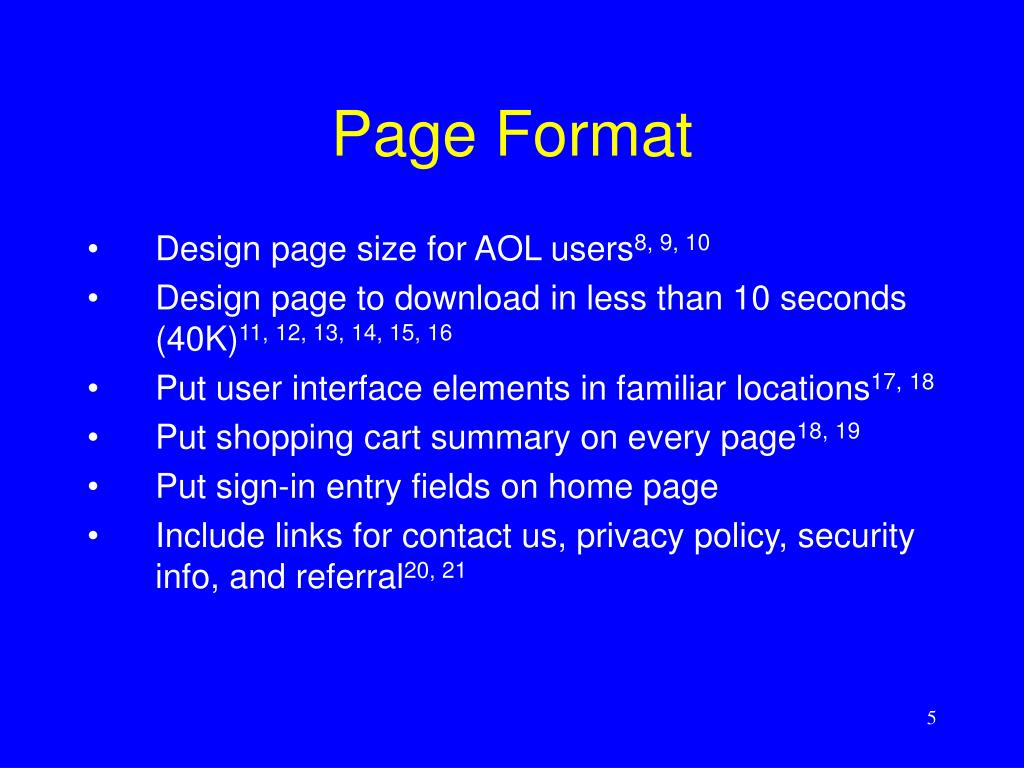 Page Format