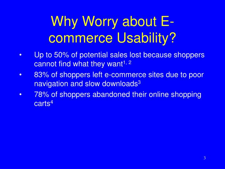 Why worry about e commerce usability