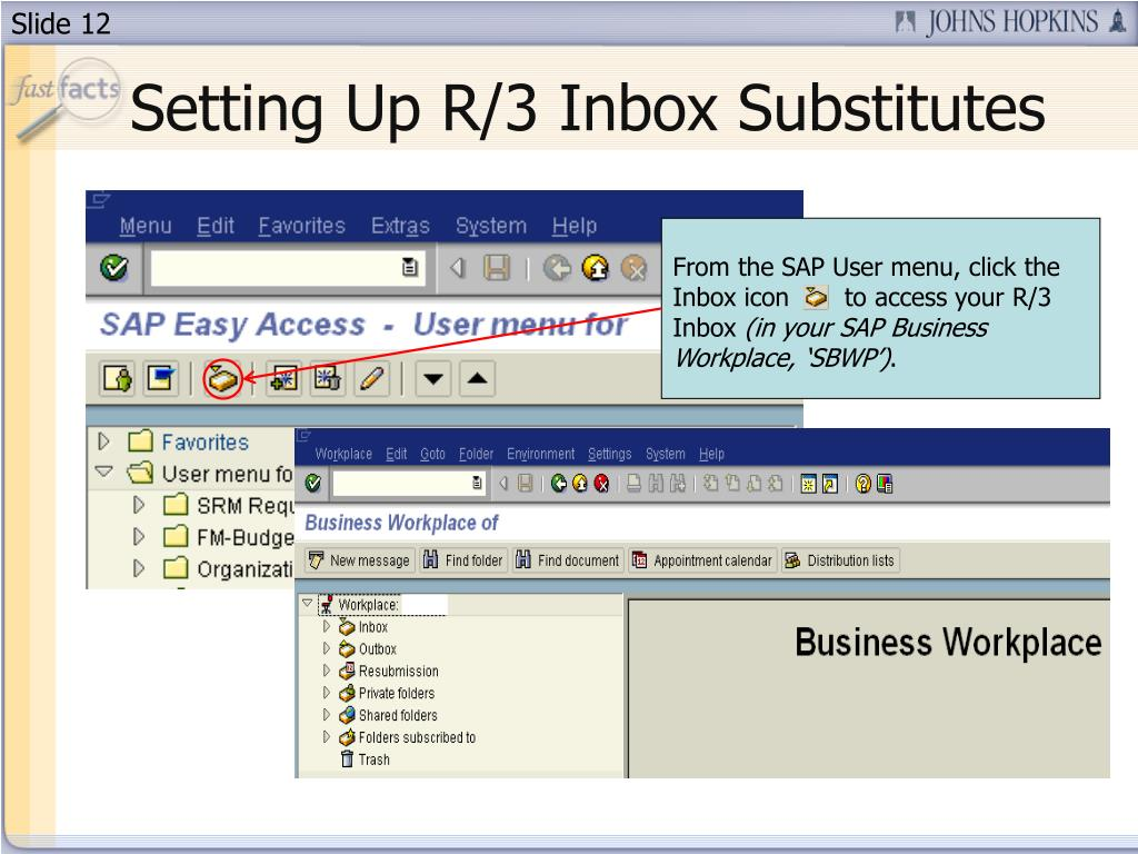 Setting Up R/3 Inbox Substitutes