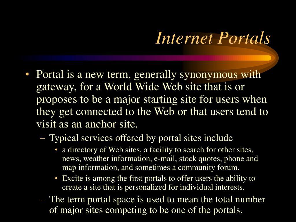 Internet Portals