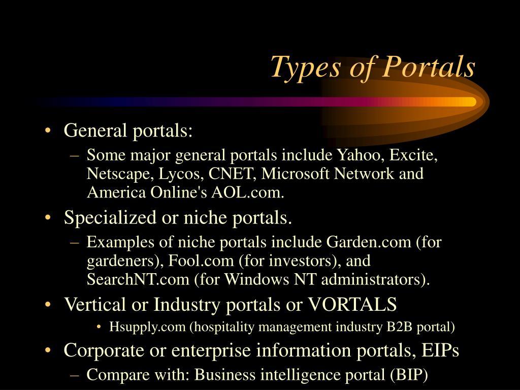 Types of Portals
