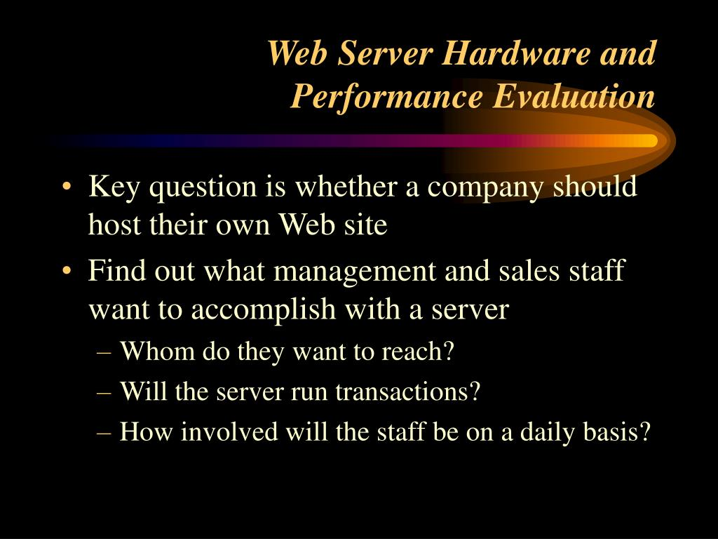 Web Server Hardware and