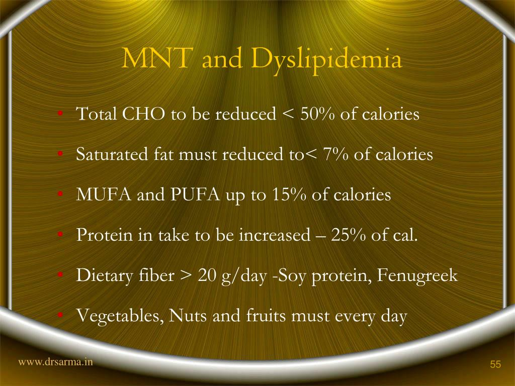 MNT and Dyslipidemia