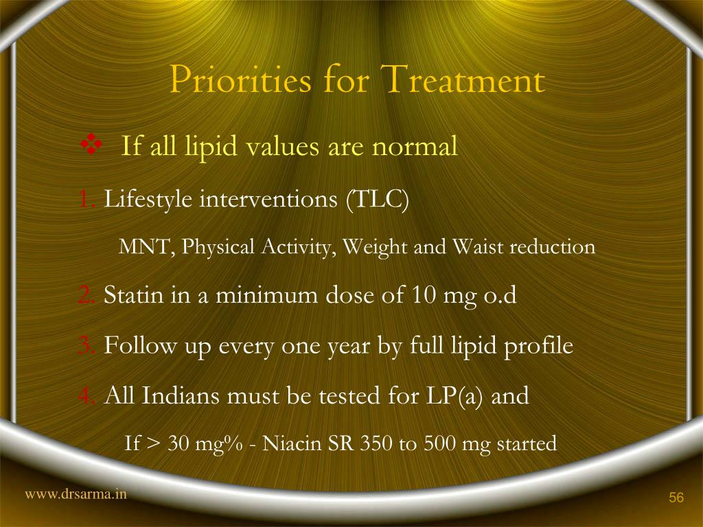 Priorities for Treatment