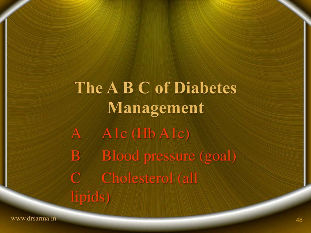 The A B C of Diabetes Management