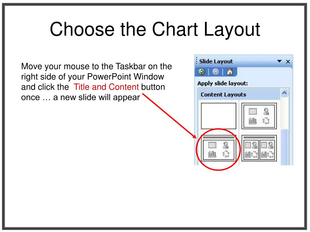 Choose the Chart Layout