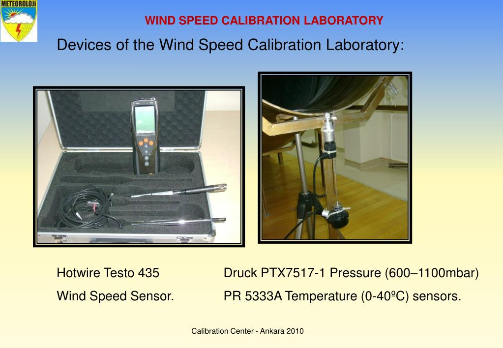 WIND SPEED CALIBRATION LABORATORY