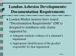london asbestos developments documentation requirements