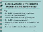 london asbestos developments documentation requirements67