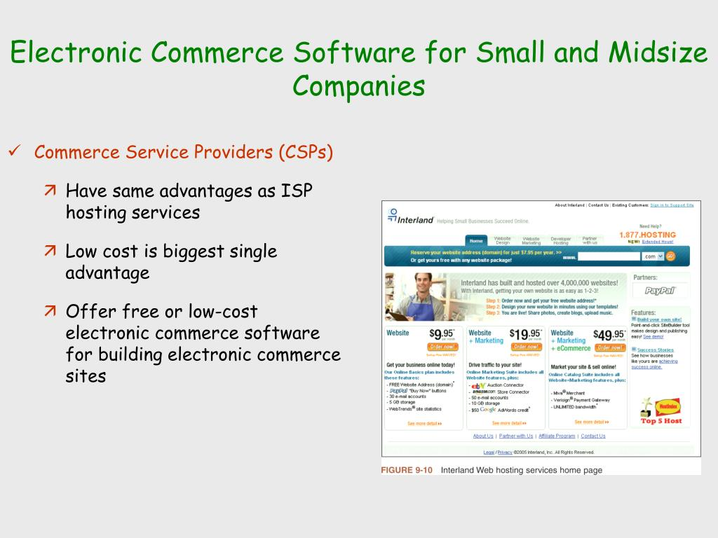 Electronic Commerce Software for Small and Midsize Companies