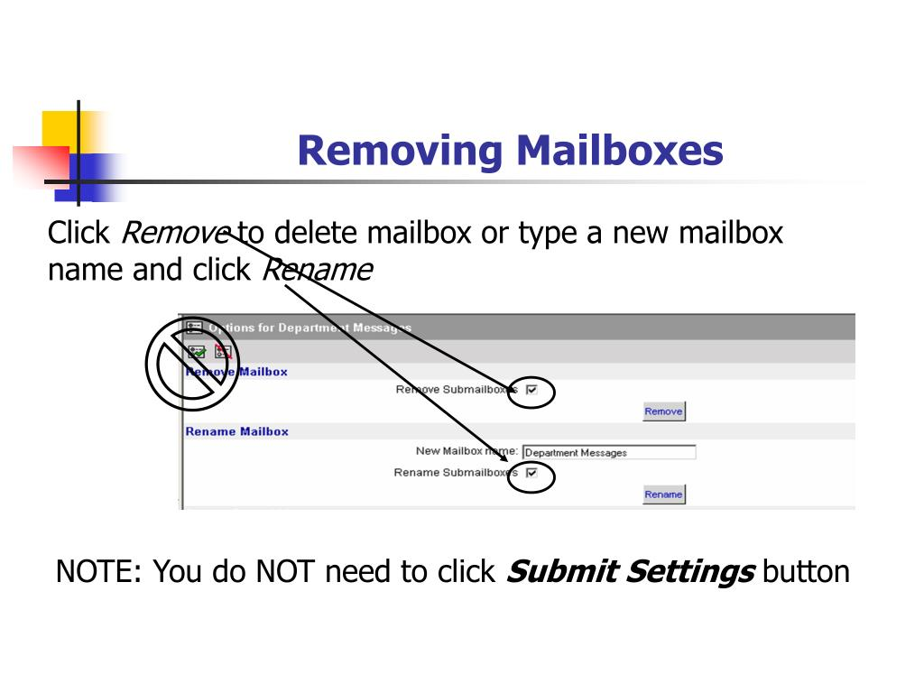Removing Mailboxes