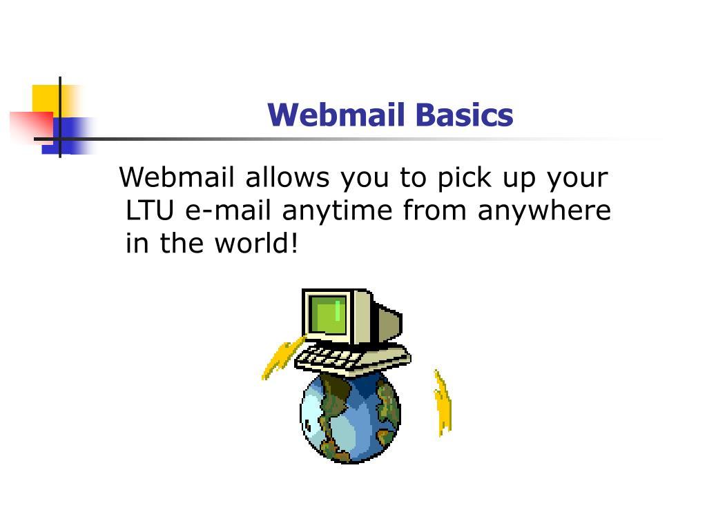 Webmail Basics