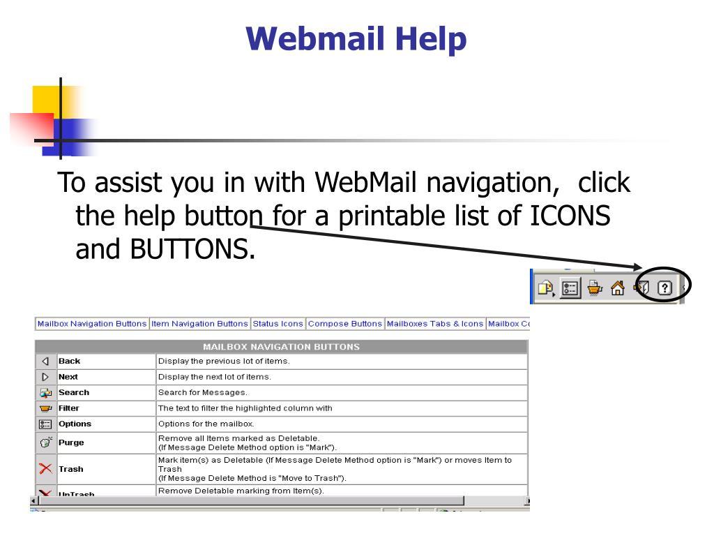 Webmail Help