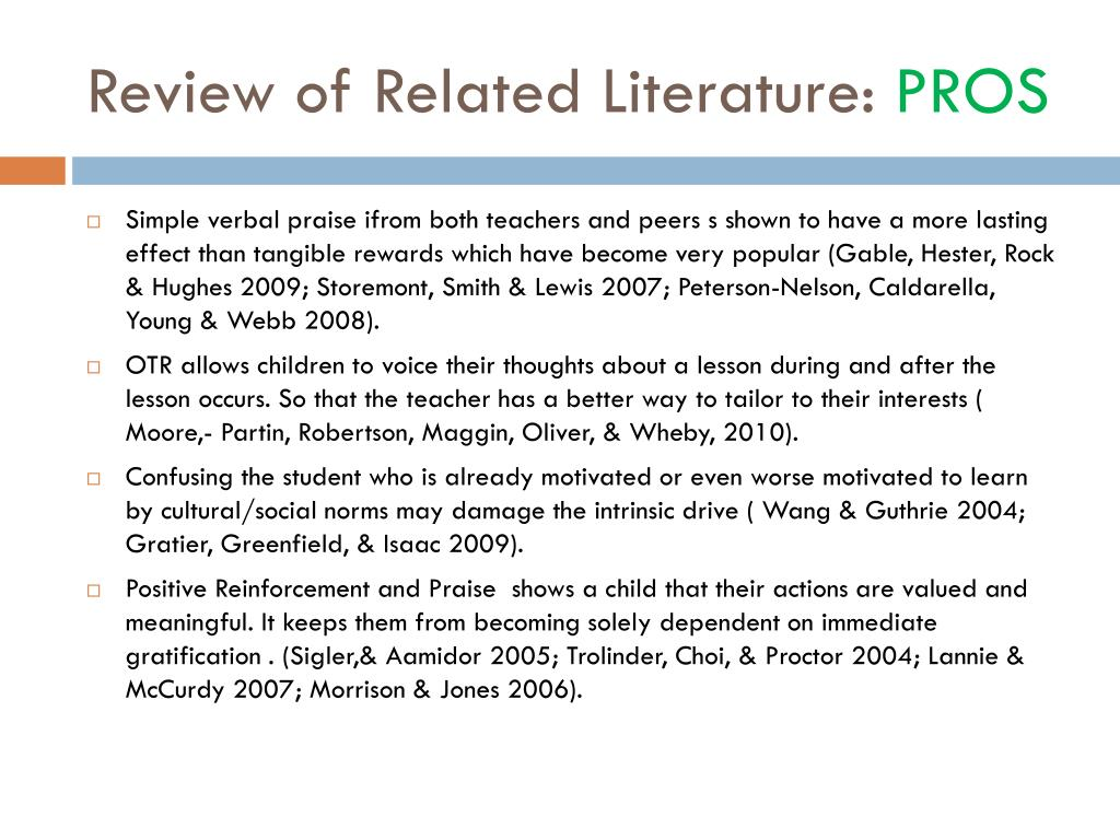 related review of literature subdivision 6 the literature review the literature review is important because: it describes how the proposed research is related to prior research in statistics.