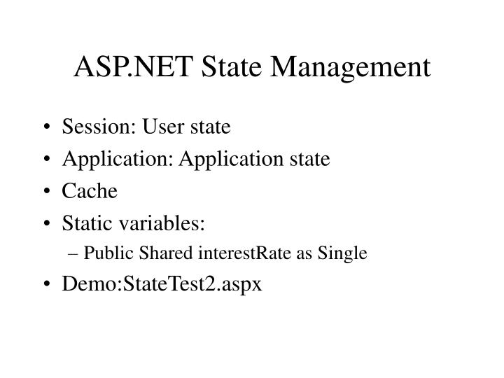 Asp net state management