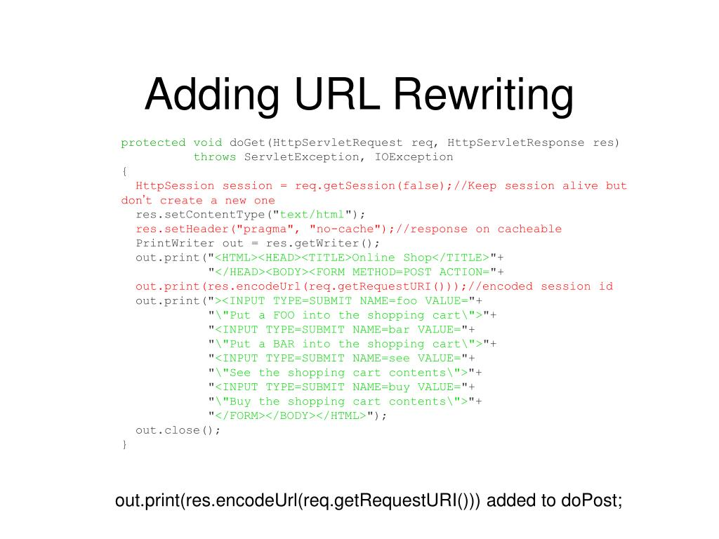 Adding URL Rewriting