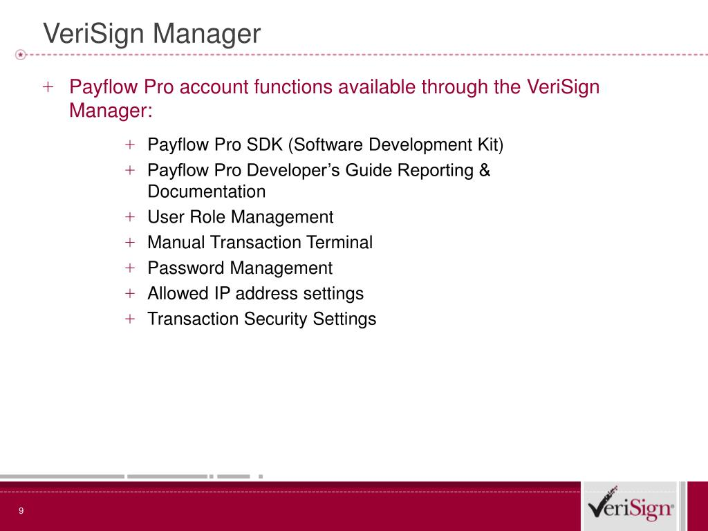 VeriSign Manager