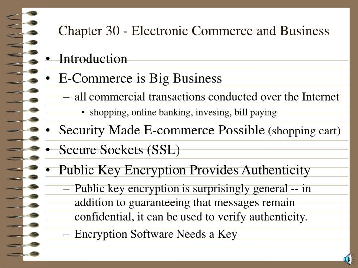 Chapter 30 electronic commerce and business