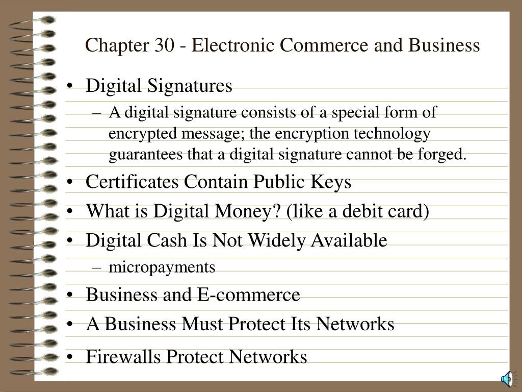 Chapter 30 - Electronic Commerce and Business