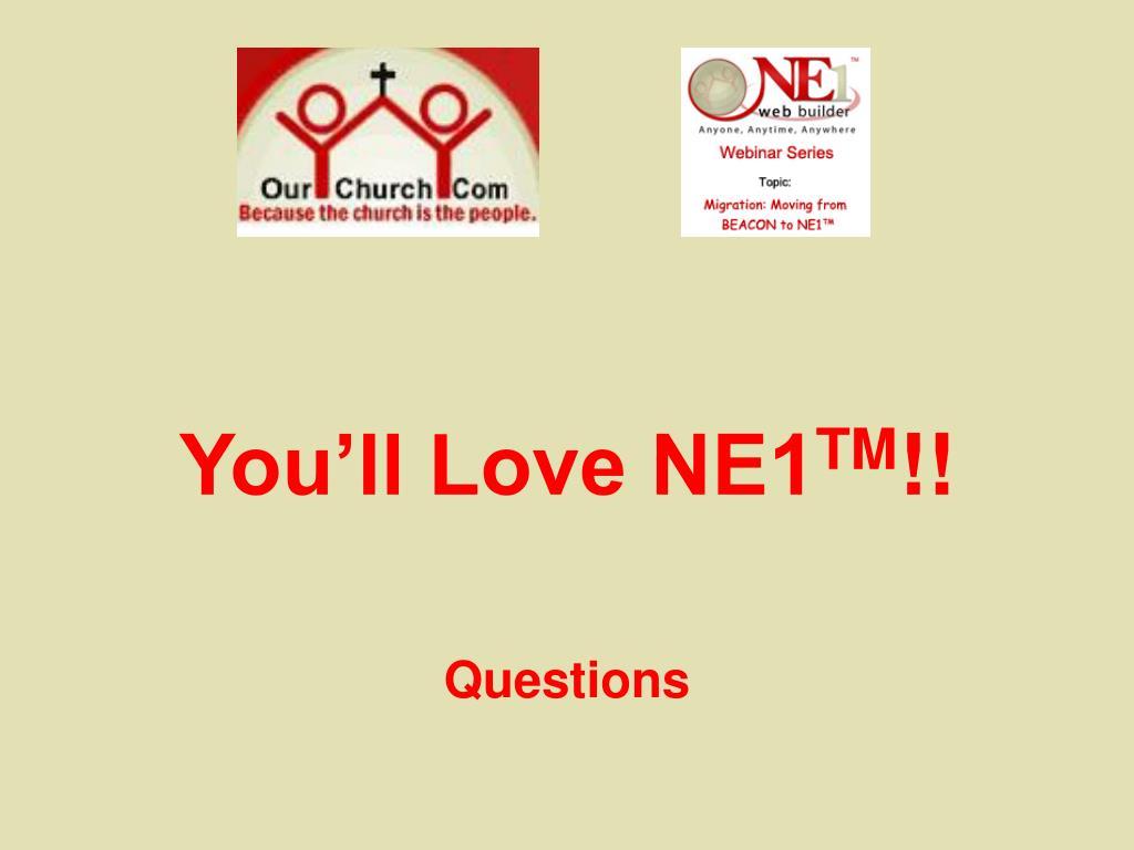 You'll Love NE1