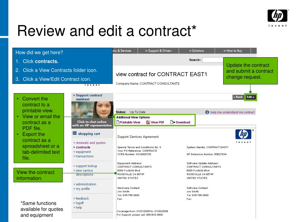 Review and edit a contract*
