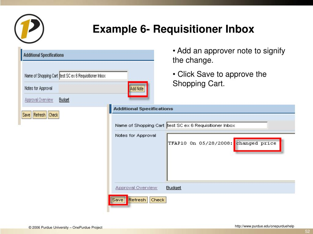 Example 6- Requisitioner Inbox