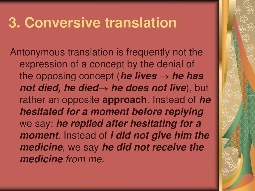 3. Conversive translation