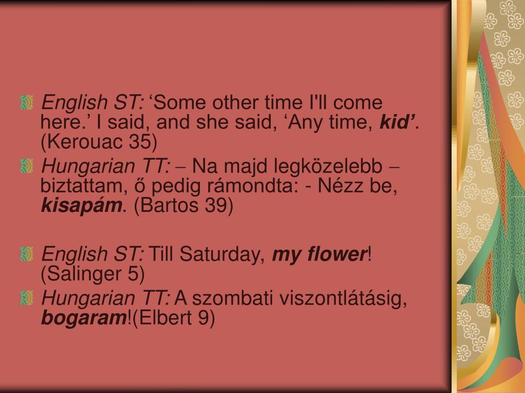 English ST: