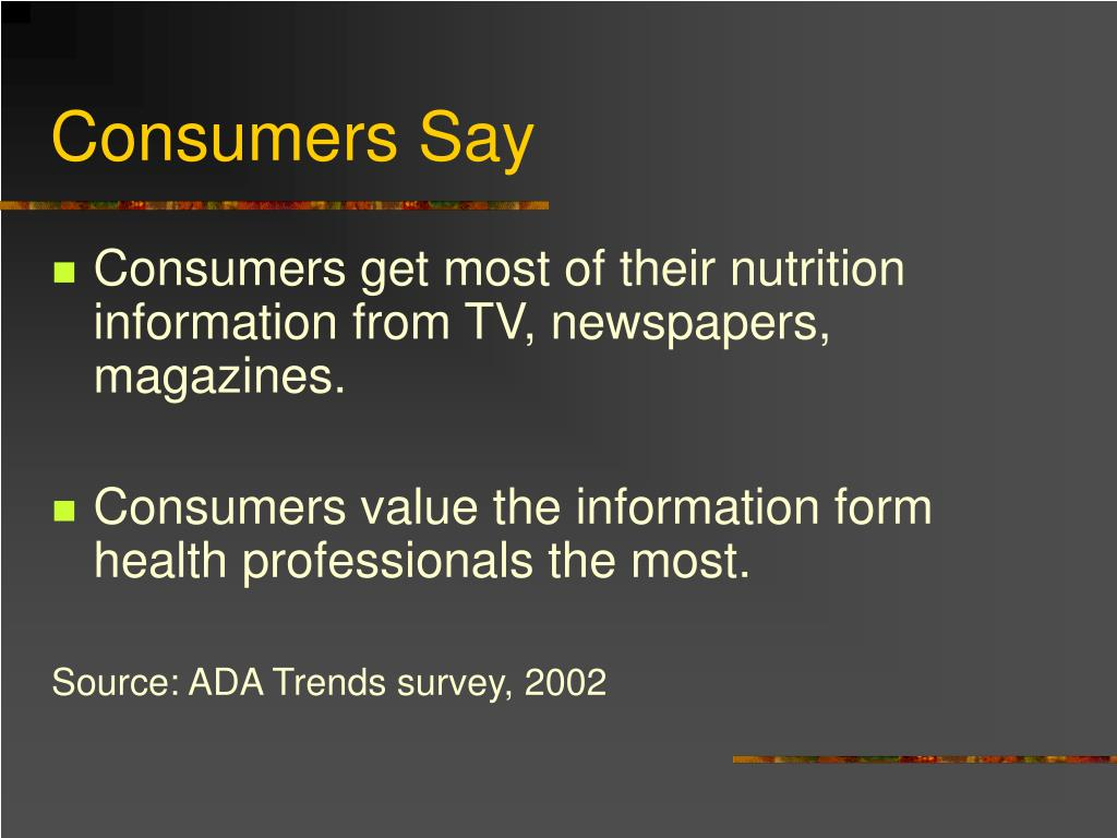 Consumers Say