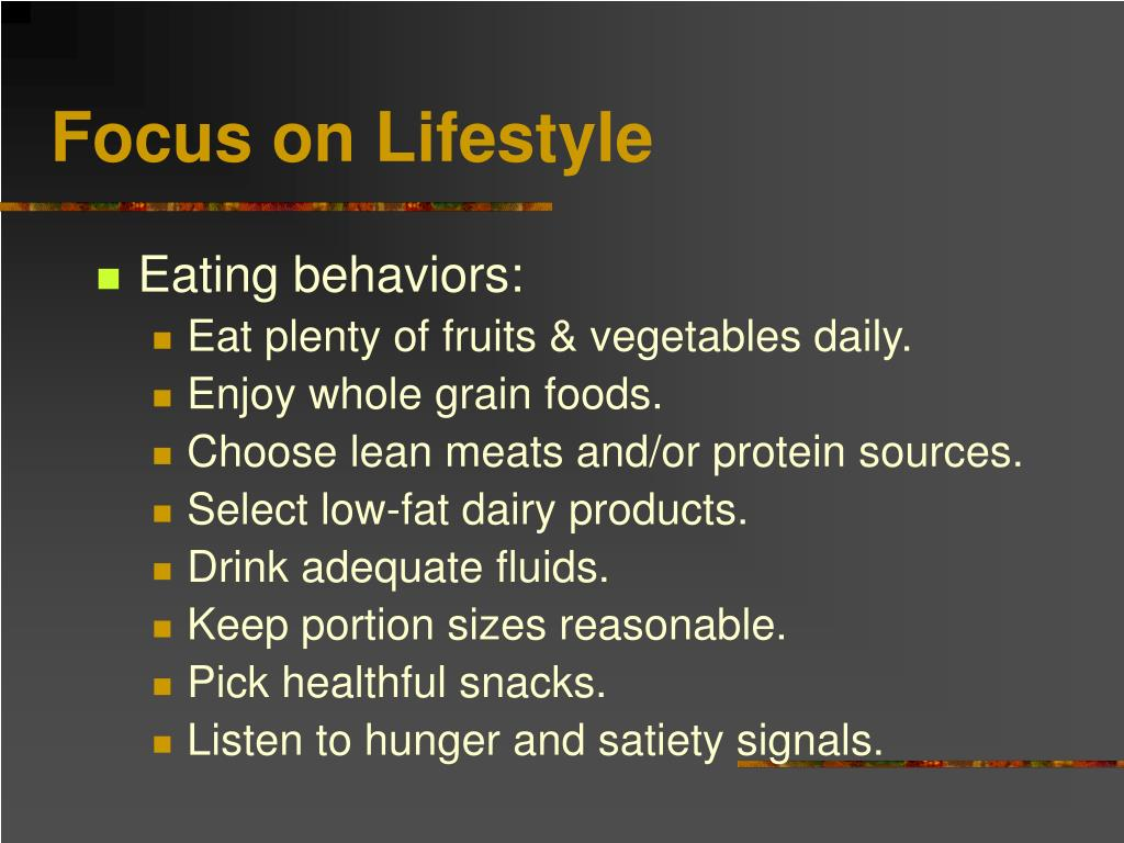 Focus on Lifestyle