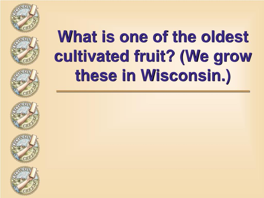 What is one of the oldest cultivated fruit? (We grow these in Wisconsin.)