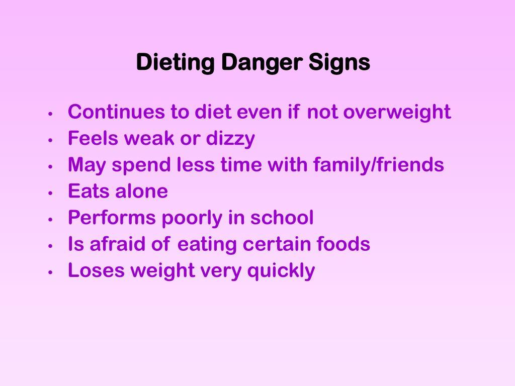 Dieting Danger Signs