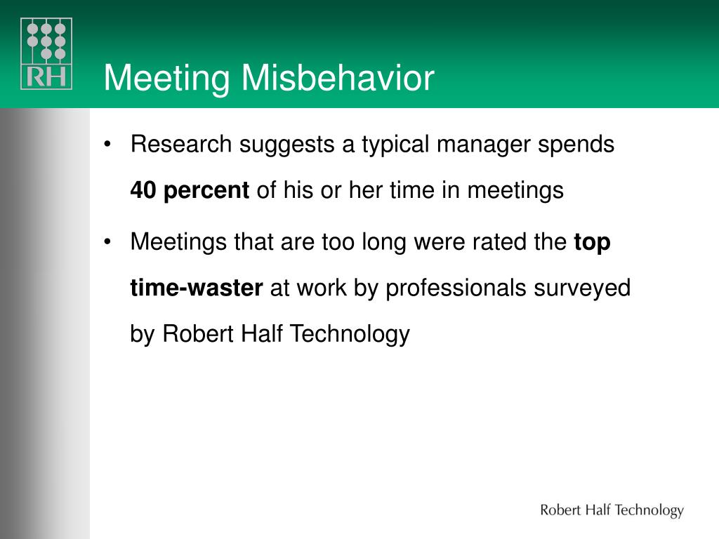 Meeting Misbehavior