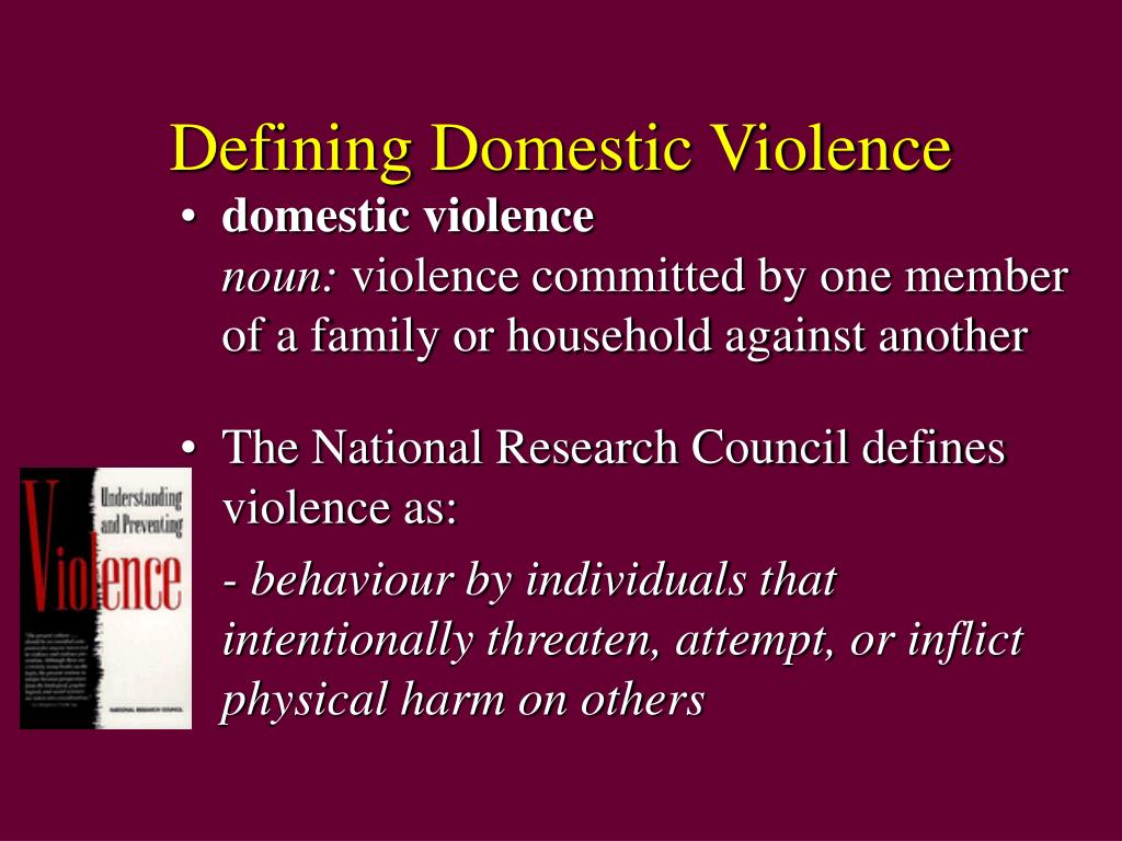 Defining Domestic Violence