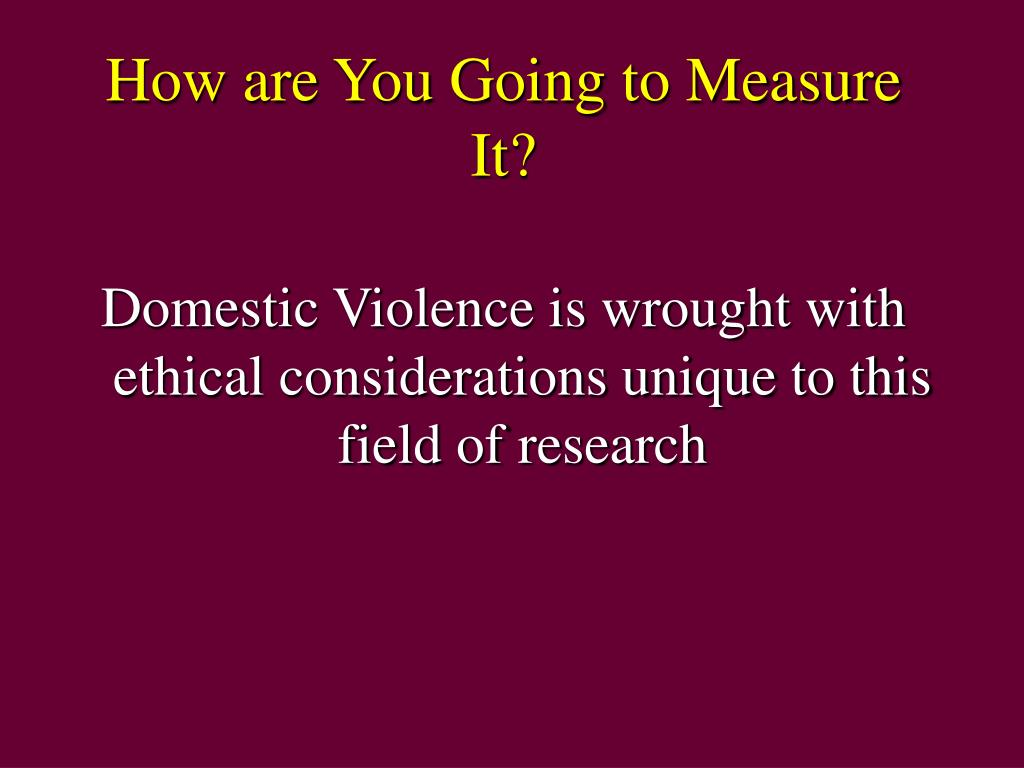 How are You Going to Measure It?