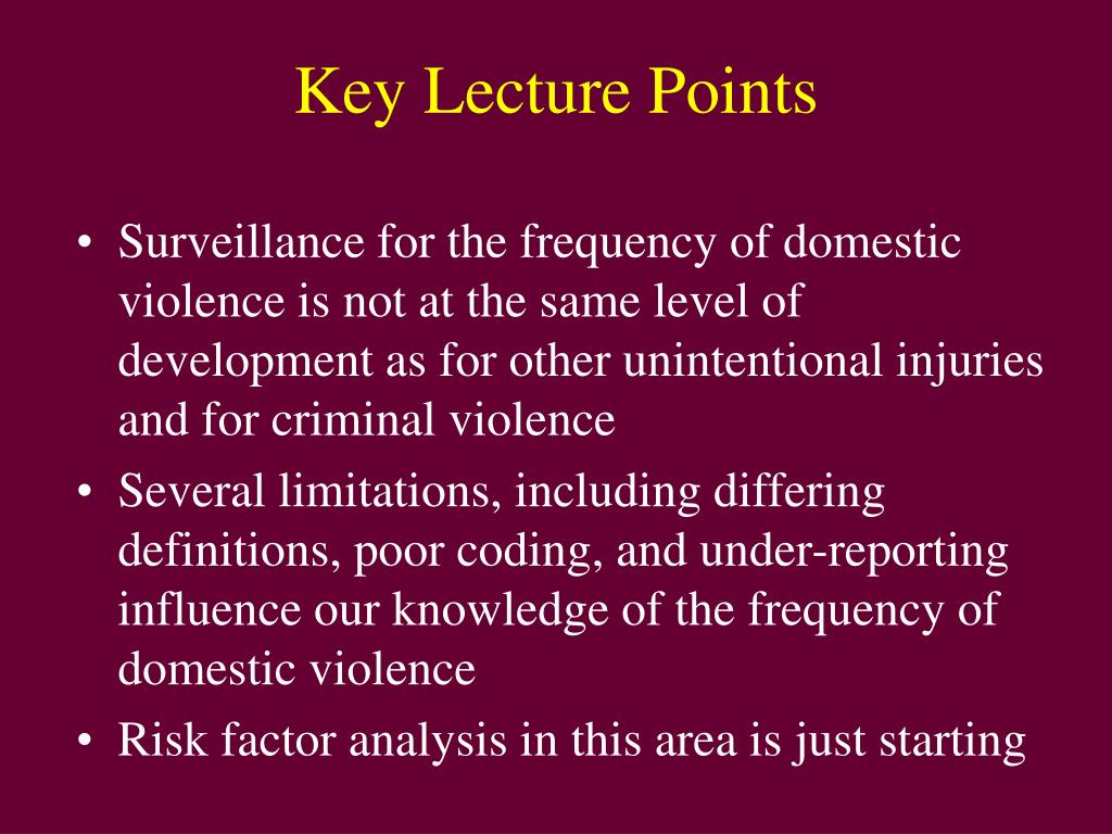 Key Lecture Points