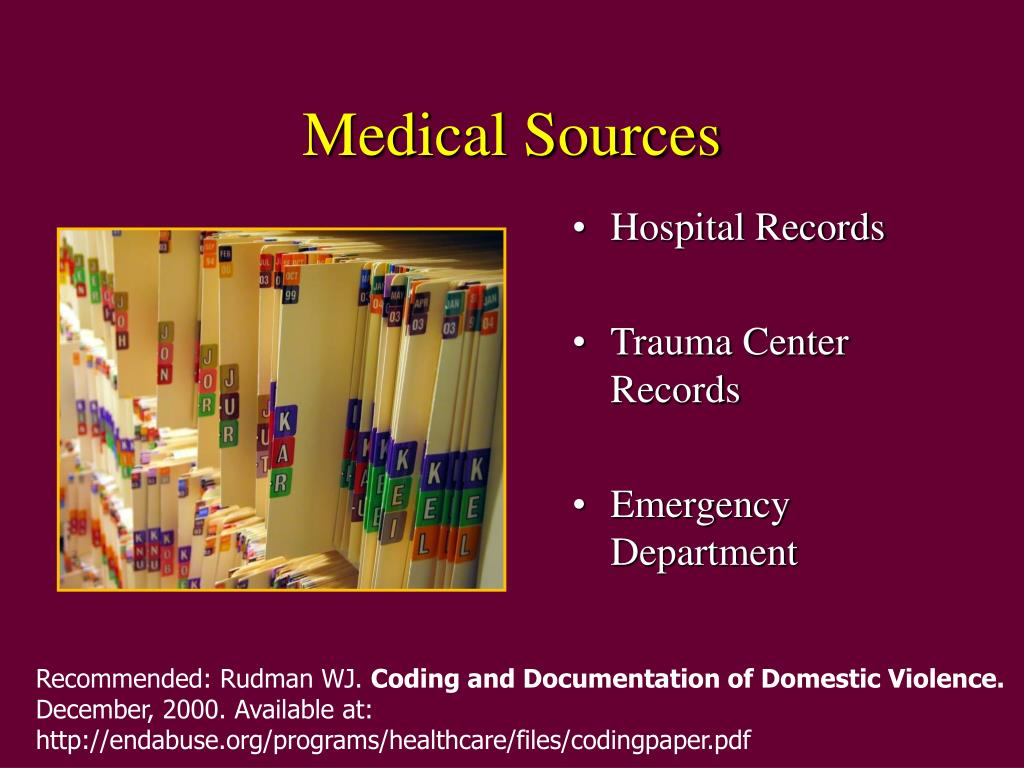 Medical Sources