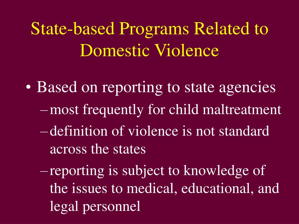 State-based Programs Related to Domestic Violence