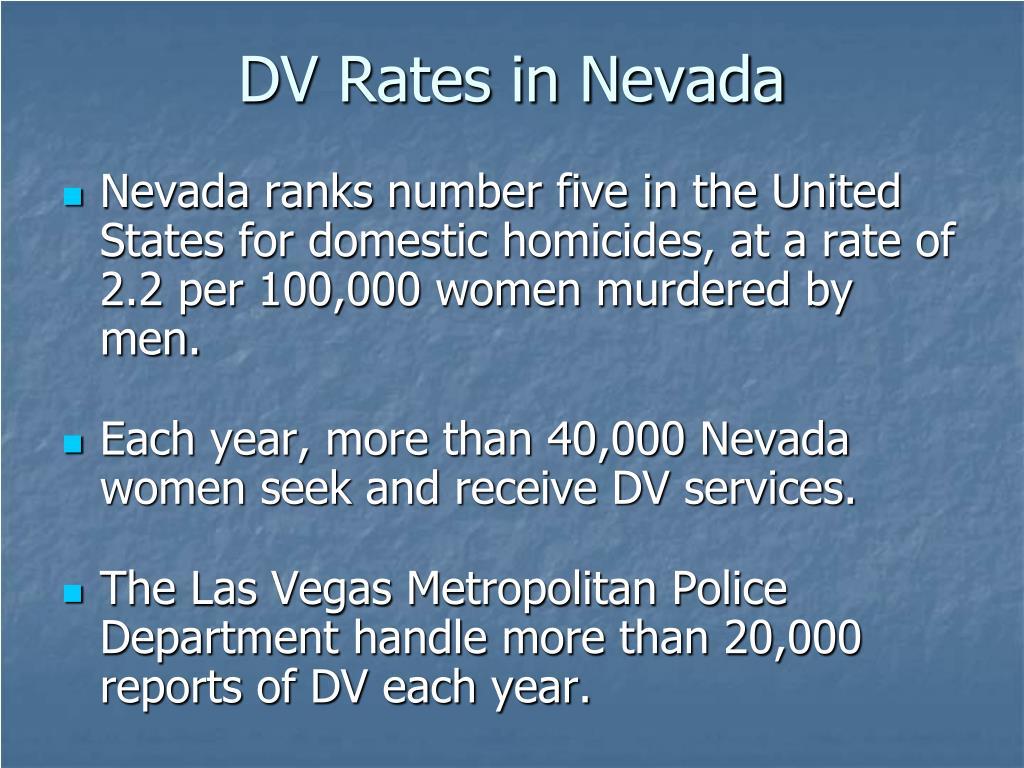 DV Rates in Nevada