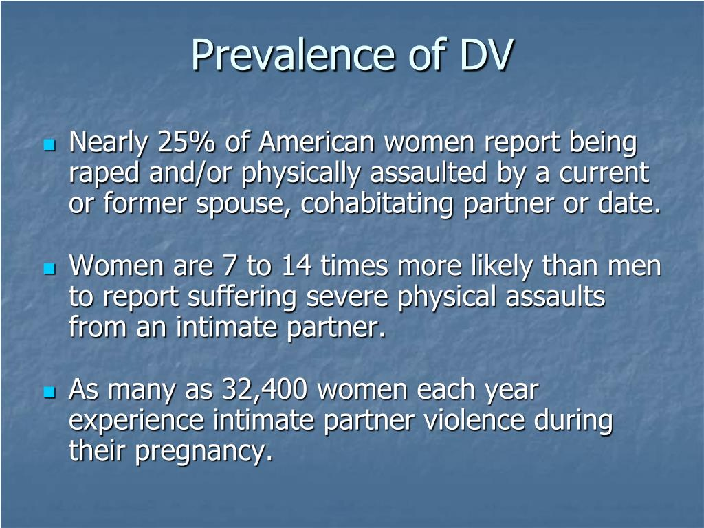 Prevalence of DV
