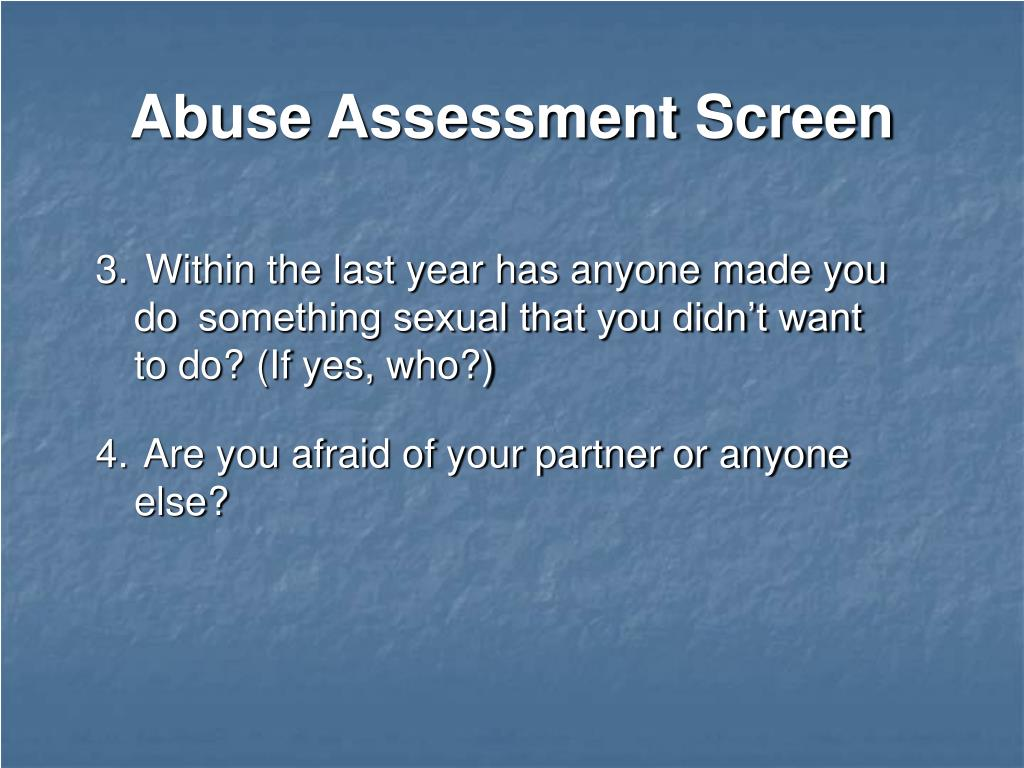 Abuse Assessment Screen