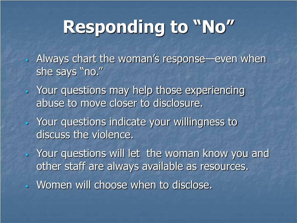 """Responding to """"No"""""""